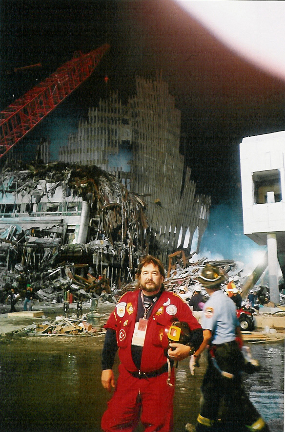This a picture of Doug Copp before going underground, at 911.
