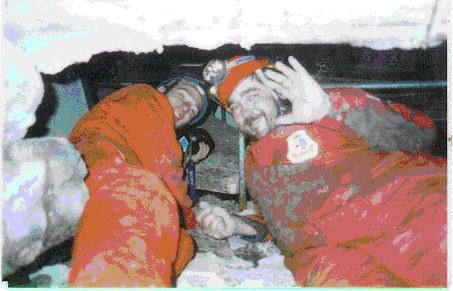 4) Doug Copp and Memo Tansrever, inside of Turkish Collapsed Building during the T of L Scientific Test. , watched on TV in more than 200 countries.