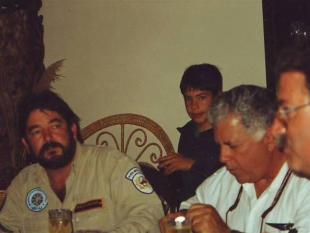 A younger, doug copp with Luis Monserrate, at the Chisholm family home. Natalie Fraser Chisholm posted this picture , last week