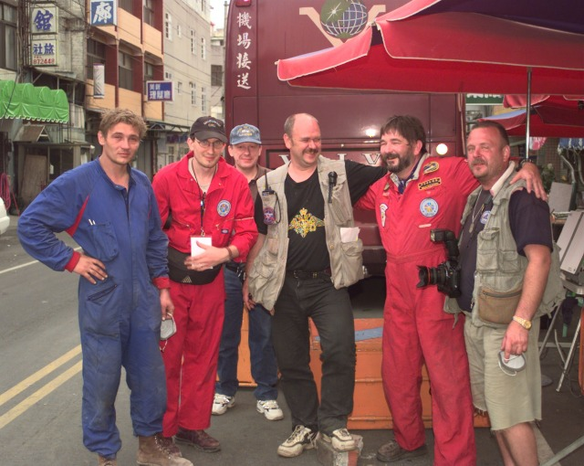 Doug Copp with Members of Russian Rescue Team during Taiwanese Earthquake.